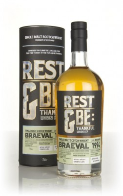 Braeval 22 Year Old 1994 (cask 165593) (Rest & Be Thankful) Single Malt Whisky