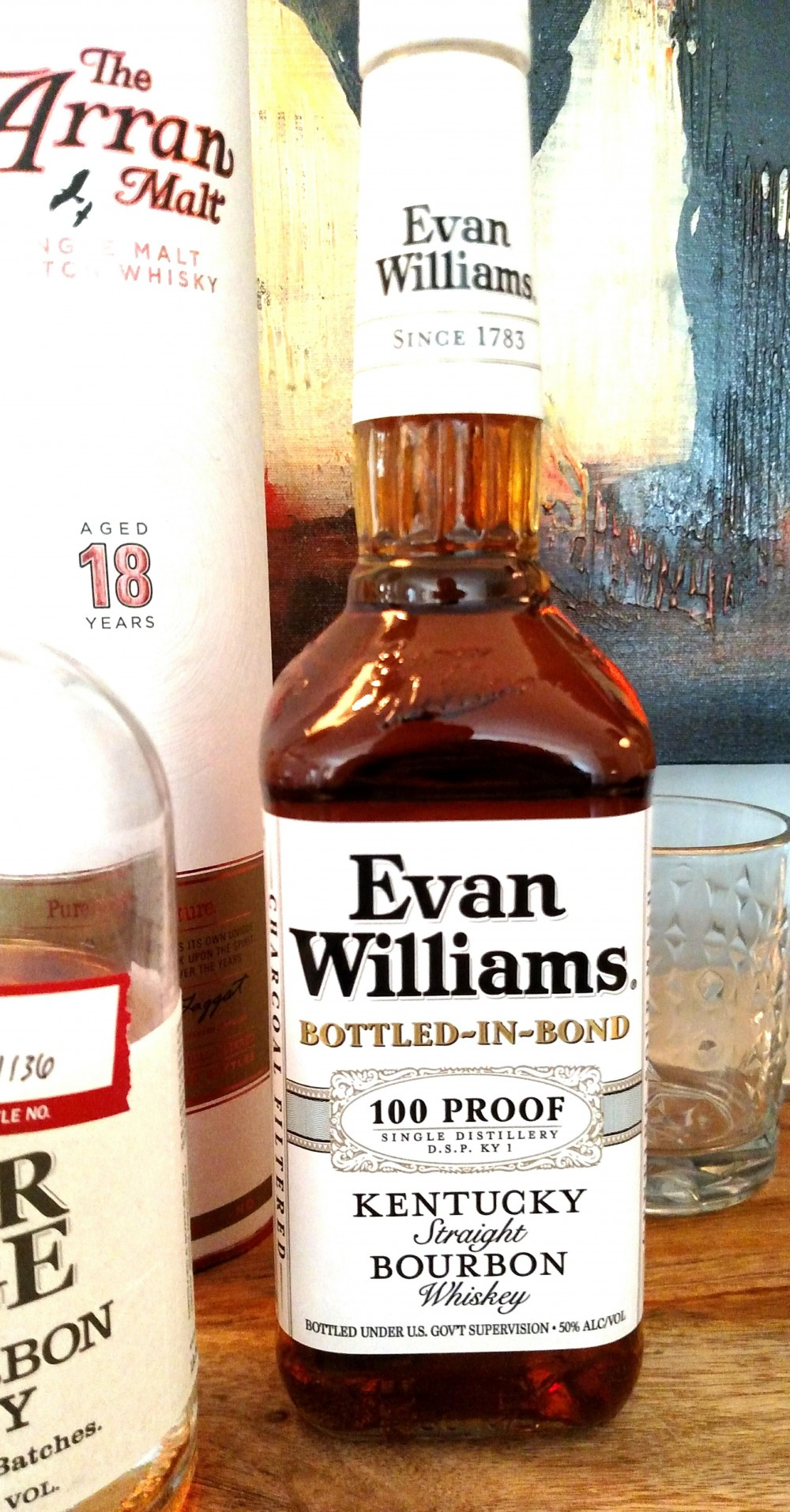 review of evan williams white label    bottled in bond by