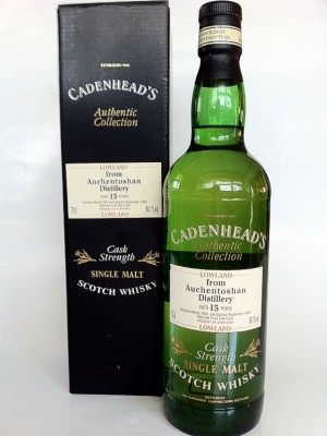 Auchentoshan 15 Year Old Cask Strenght Cadenhead's Authentic Collection