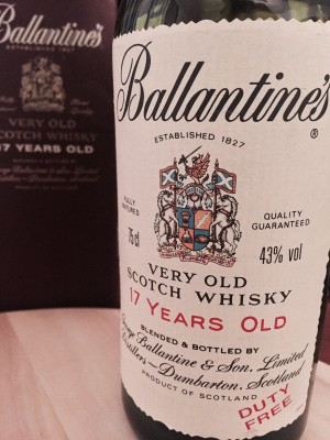 Ballantine's  17 Years Old 43% abv.