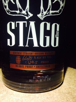 Buffalo Trace Stagg Jr 129 proof
