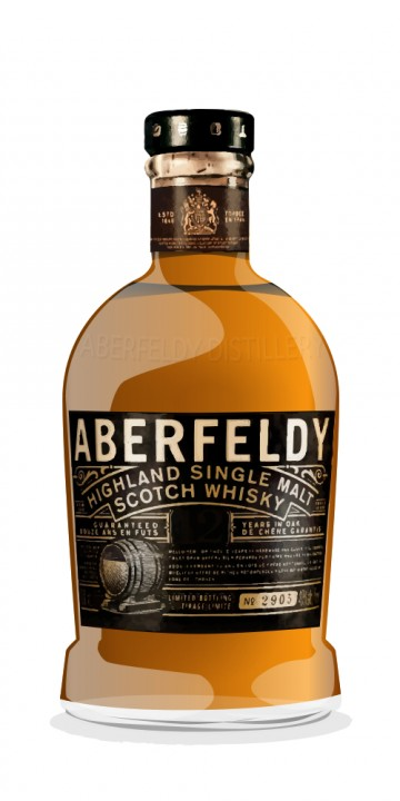 Aberfeldy 1974 Map Label Connoisseurs Choice Gordon and Macphail